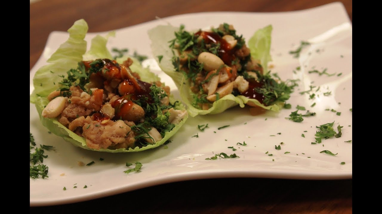 Thai lettuce wraps with minced chicken thai cuisine sanjeev thai lettuce wraps with minced chicken thai cuisine sanjeev kapoor khazana forumfinder Gallery