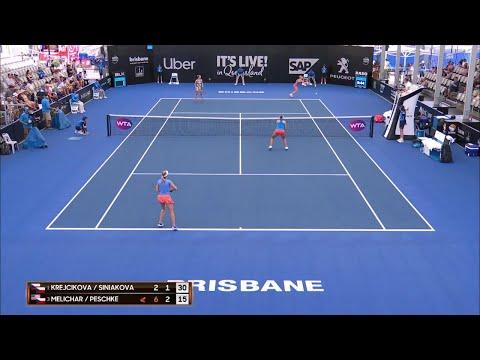 Krejcikova/Siniakova vs Melichar/Peschke match highlights (SF) | Brisbane International 2019