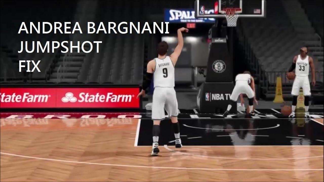 2k16 Andrea Bargnani Jumpshot Fix - YouTube
