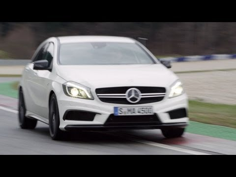 NEW Mercedes A 45 AMG High Speed on Track