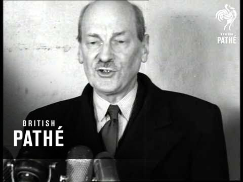 Clement Attlee Arrives In New York (1952)