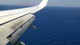 Посадка в аэропорту Ираклиона, о.Крит 20.07.2013г.(Посадка в аэропорту Ираклиона, о.Крит 20.07.2013г., со стороны средиземного моря., 2013-08-07T16:33:37.000Z)