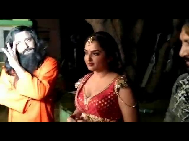 Bhojpuri Film Rajmahal on location shooting interview Amrish singh Amrapali Dubey