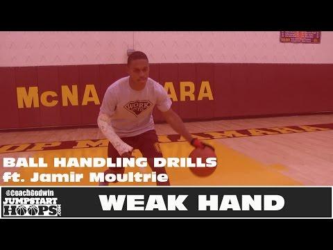 3 Ball Handling Drills to Develop your Weak Hand - Coach Godwin Ep: 182