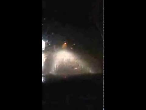 Driving in Costa Rica at Night During the Rain