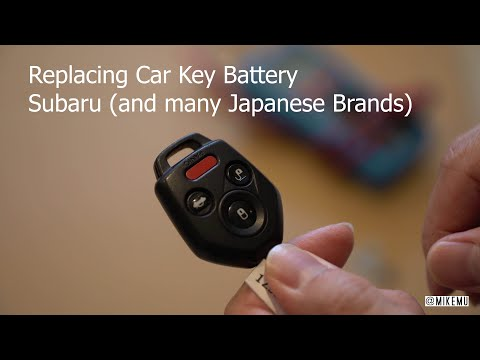 How to Replace Your Car Key Battery | Subaru