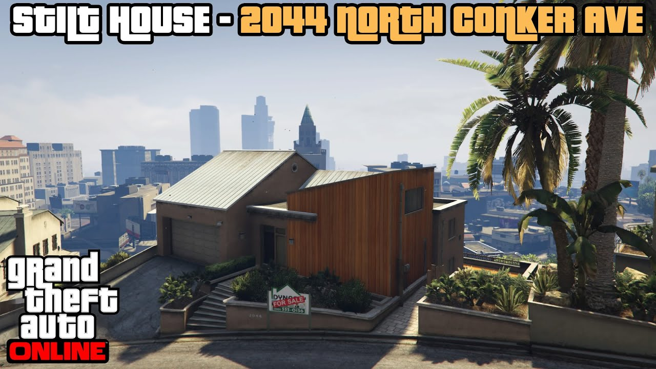 Gta 5 online ps4 stilt house 2044 north conker ave tour for Find a house online