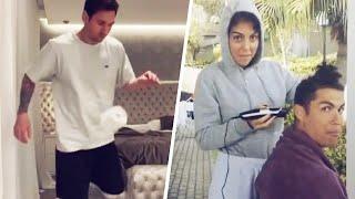Que font Lionel Messi et Cristiano Ronaldo pendant leur confinement ? | Oh My Goal