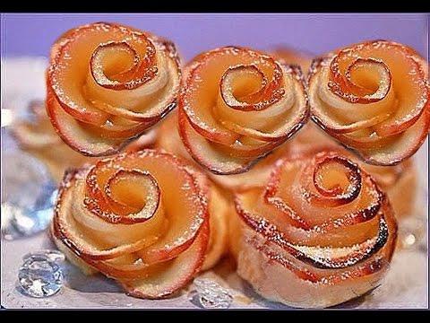 Это к чаю. Рецепт приготовления розочек из слоеного теста с яблоками