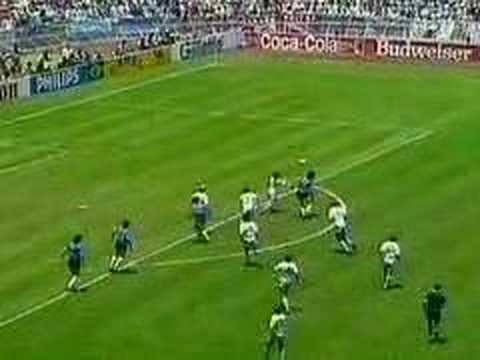 Maradona gol a Inglaterra la mano de Dios narrado por la BBC
