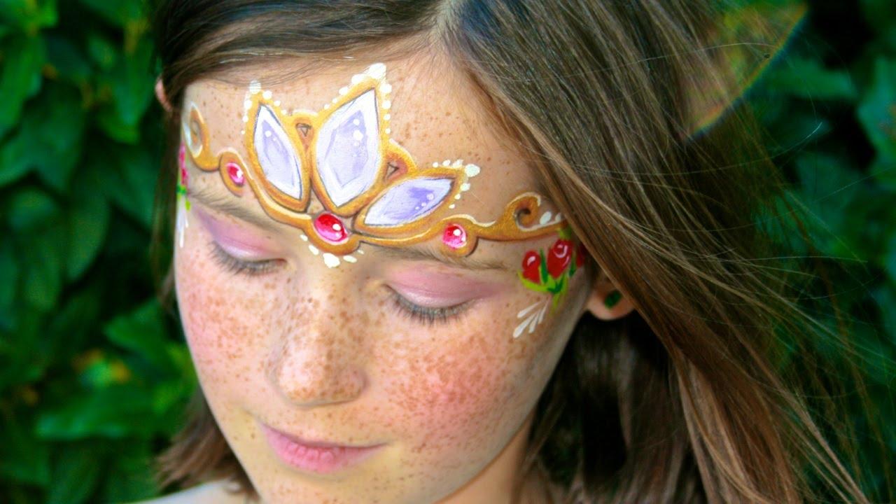 Maquillage de princesse de conte de fées , Le diadème de Raiponce ,  Tutoriel maquillage des enfants , YouTube
