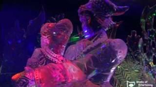 Галерея ледяных скульптур в Москве, репортаж