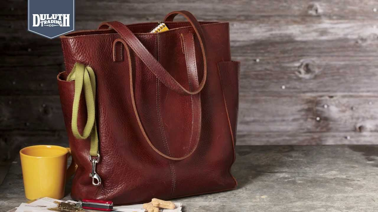 aa75d71ac5b0 Duluth Trading Women s Lifetime Leather Tote - YouTube