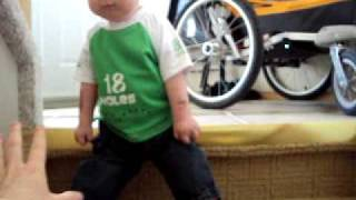 Jakob going down the Stairs (arthrogryposis)