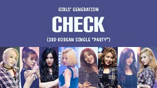 Girls' Generation (소녀시대) – Check Lyrics (HAN/ROM/ENG)