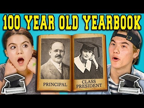 Thumbnail: TEENS REACT TO A 100 YEAR OLD YEARBOOK?!