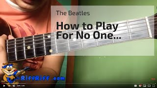 Easy Beatles Song to Play on Guitar - For No One by the Beatles