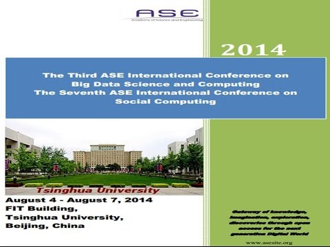 Challenges and Opportunities in Big Data and Social Computing ASE
