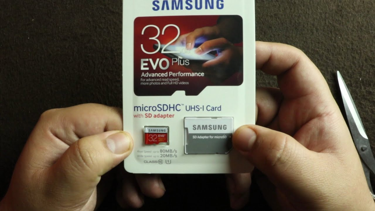 Samsung Evo 32gb Class10 Micro Sdhc Card Unboxing Review Youtube Sandisk Ultra Microsd Speed 80mbps Class 10 With Adapter