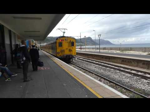 The train arrives. Salt River Station, Cape Town, South Africa