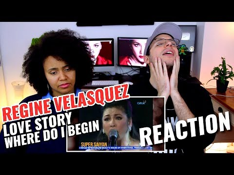 Regine Velasquez  Love Story Where Do I Begin  REACTION