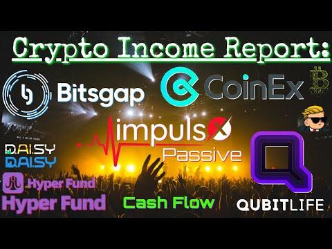 Crypto Income Report Bitsgap Hyperfund Qubitlife ImpulsX CoinEx AMM AltCoins Bitcoin ETH