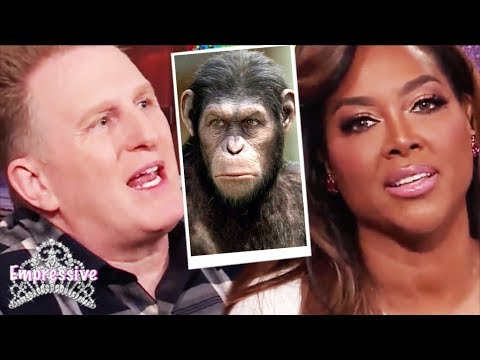 Michael Rapaport compares Kenya Moore to an ape? So disrespectful!