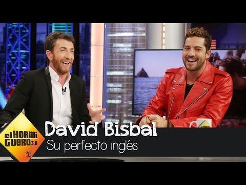 Alucinamos con el perfecto inglés de David Bisbal - El Hormiguero 3.0