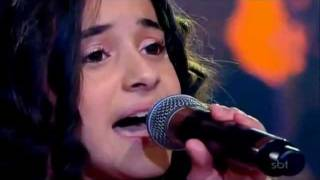 Michely Manuely  -Aleluia - no Programa do Raul Gil. - Jovens talentos Kids