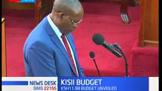 Kisii County unveil mega budget for economic growth