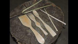 Carving a Spoon, Fork, Spatula, Chopsticks and Tongs -12 Week Bushcraft Challenge- Week 3