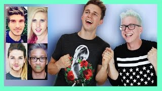 Morphed YouTubers Challenge (ft. Marcus Butler) | Tyler Oakley