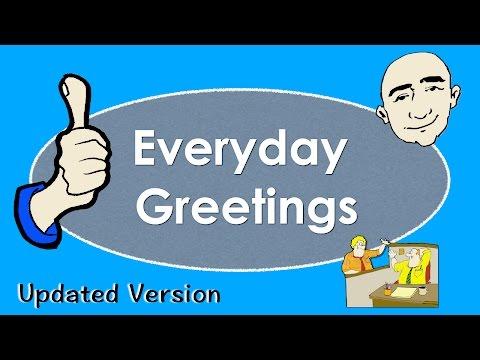 Everyday Greetings | Basic English Conversation Practice | ESL | EFL