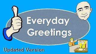 Everyday Greetings  Basic English Conversation Practice  ESL  EFL