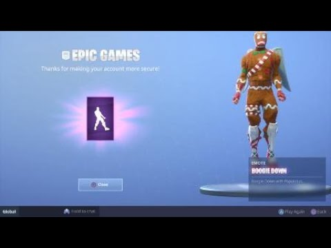 Recieving Boogie Down Emote! New Fortnite Introduction!