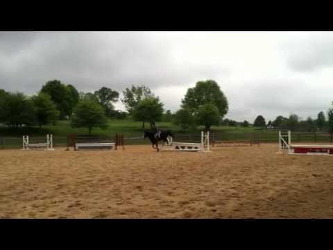 Bridget jumping at Schooley Mill