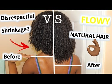 How I Stretch My TYPE 4 KINKY CURLY Natural Hair | FAST Way to STRETCH Natural Hair for LENGTH