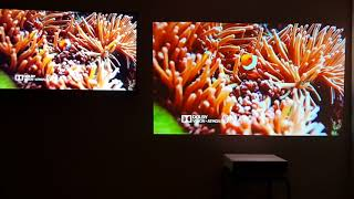 Xiaomi Laser Projector vs 4K HDR: Video with no ambient light