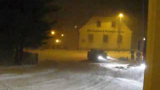 Wintergewitter über Annaberg-Buchholz