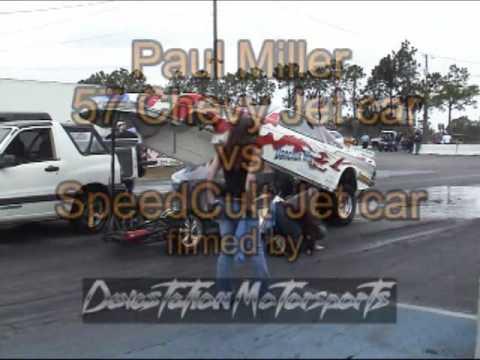 Paul Miller 57 Chevy Jet Car vs SpeedCult Jet US Street Nationals 2010