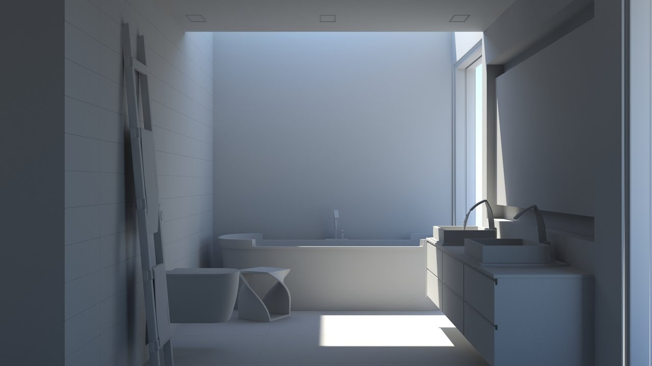 3ds Max Nterior Render Tutorial With Mental Ray Light Setup Part 1 Youtube