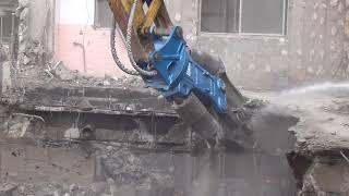 Video still for OKADA TSRC1000V Multi-crusher Operating weight 2630kg