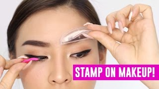 Stamp on Makeup! Does it work? | TINA TRIES IT