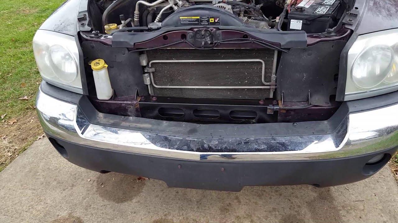 Dakota Radiator Support repair (no weld)  YouTube