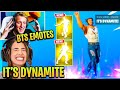 Streamers React to *NEW* I'M DIAMOND Emote and IT'S DYNAMITE Emote! Fortnite BTS DYNAMITE PACK