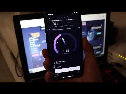 Speed Test Fibra Infostrada 200 MEGA con cavo LAN Notebook vs Wi-Fi iPhone X ITA