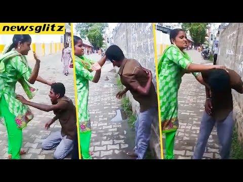 கணவனை புரட்டி எடுத்த மனைவி : Coimbatore Woman Beats her Husband Over a Tattoo | Latest News