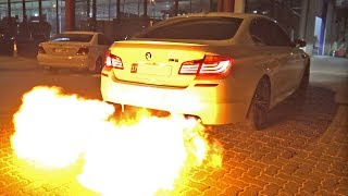 CRAZY BMW M5 F10 SPITTING HUGE FLAMES!