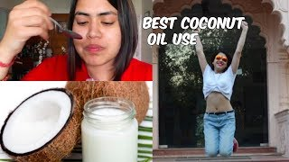 OIL PULLING | COCONUT OIL Benefits for health weight loss face skin acne & teeth | AMAZING RESULTS