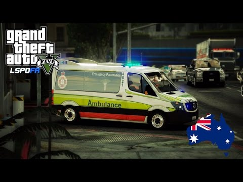 GTA 5 - Emergency 000 - Queensland Ambulance Patrol (Play GTA 5 as a Paramedic mod for PC) #OZGTA